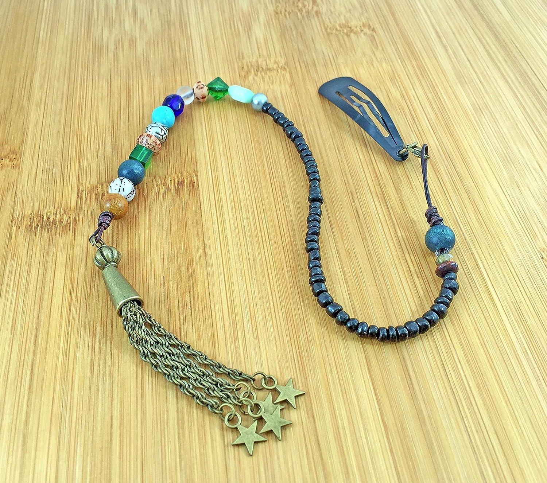 Handmade Star Tassel Pendant Blue Pirate Hair Beads - DeluxeAdultCostumes.com