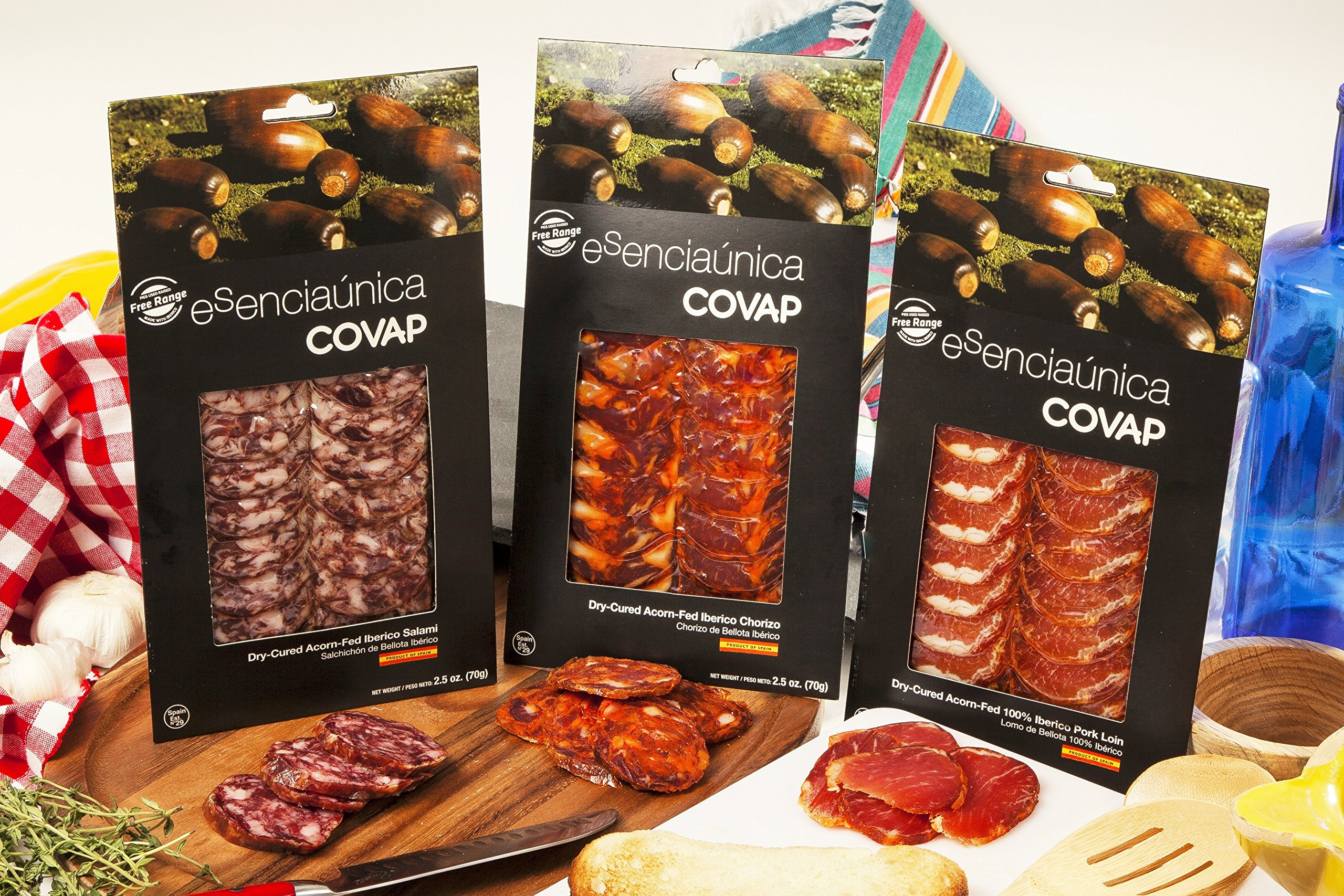 Acorn Fed Trio Loin, Chorizo and Salami Sliced (7.5 oz)