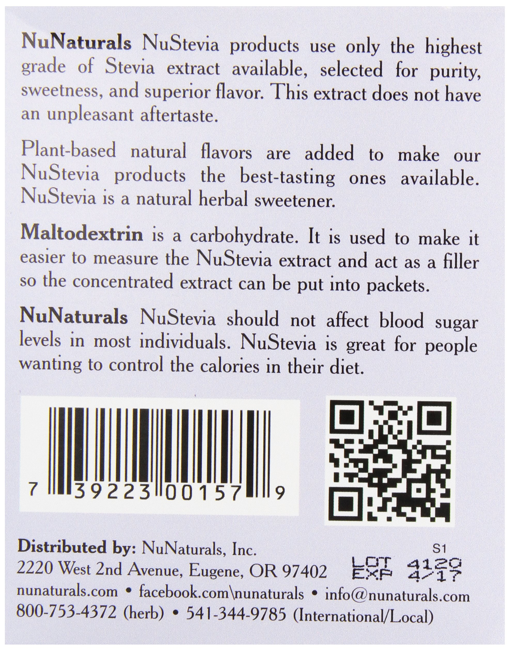 NuNaturals Nustevia White Stevia with Maltodextrin Packets, 50 count (Pack of 24) by NuNaturals (Image #4)