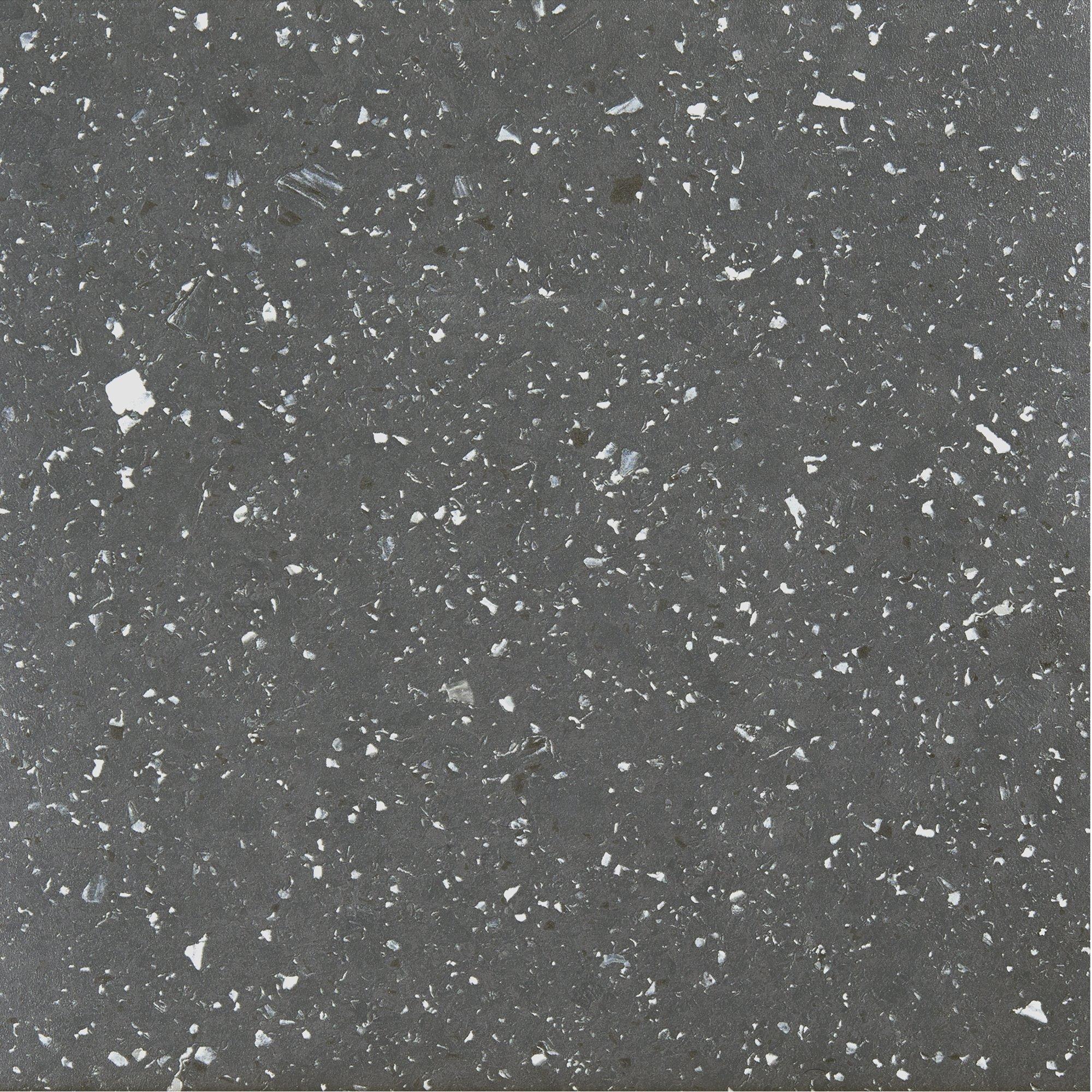 Achim Home Furnishings STBSG70620 Sterling Self Adhesive Vinyl Floor Tile, 12'' x 12'', Black Speckled Granite