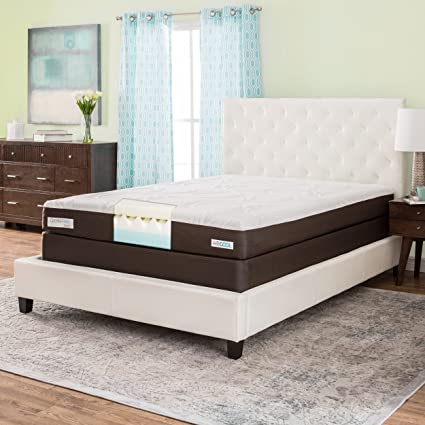 simmons beautyrest comforpedic from beautyrest 8 inch queen size memory foam mattress set - Simmons Beautyrest Mattress