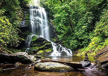 Fototapete Naturwasserfall Tropen Bach Dschungel Urwald Jungle  Tapete Vliestape