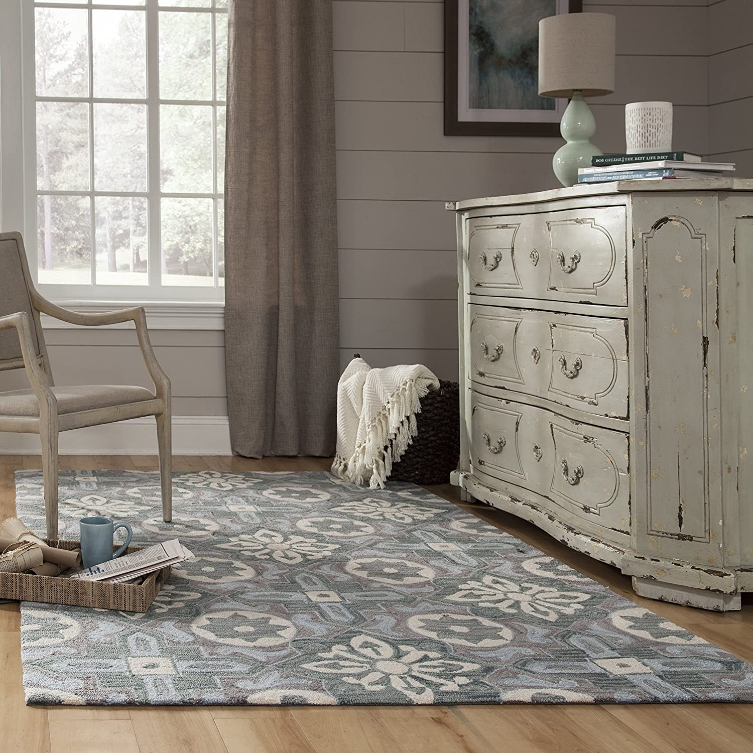 Momeni Rugs  Summit Collection 5 x 76 Hand Knotted Transitional Area Rug Grey 5/' x 7/'6 Inc DROPSHIP SUMITSUM13GRY5076