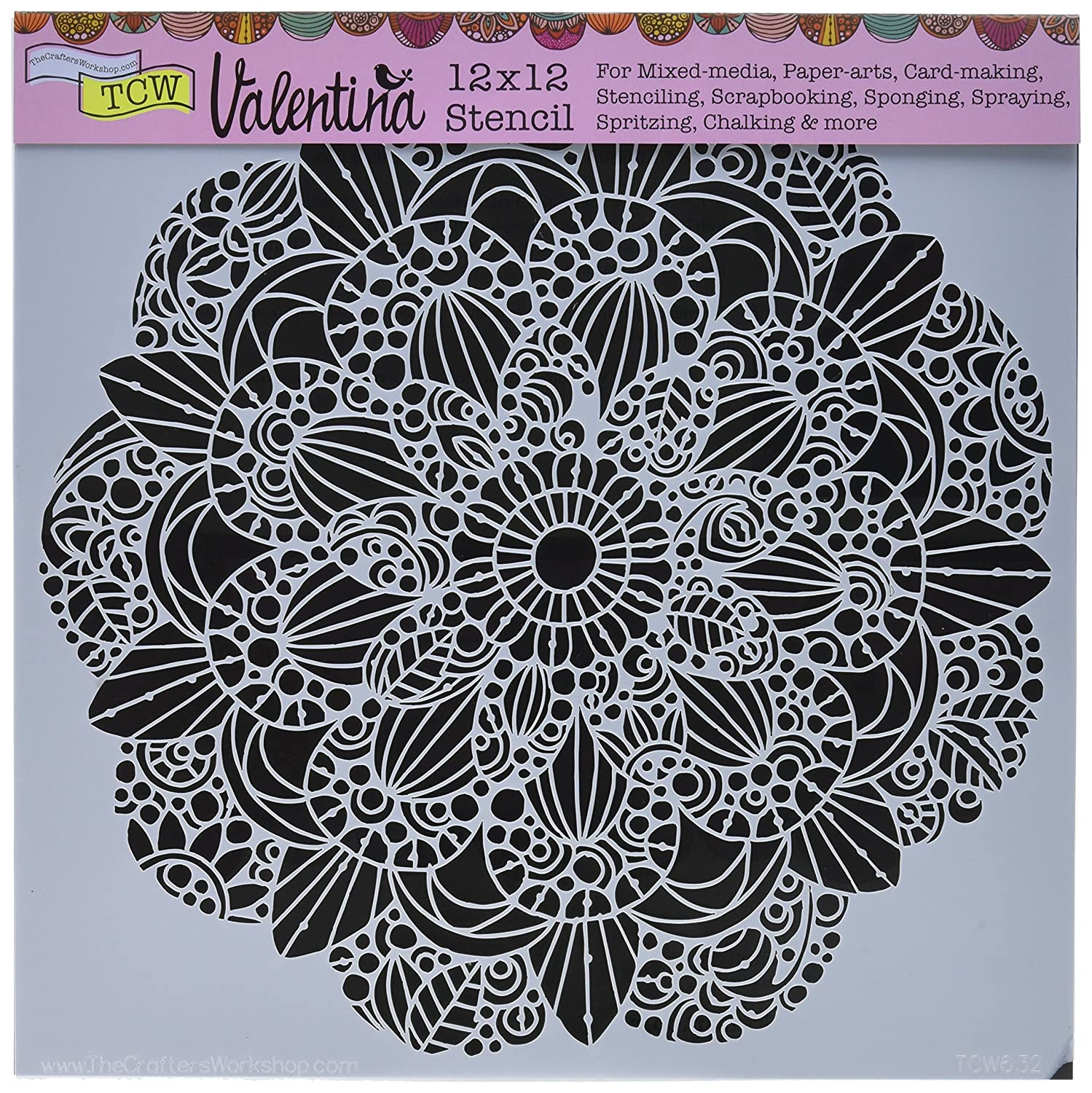 Crafter'S Workshop Template 12 cm x 12 cm, motivo: Mazzolini di fiori Crafters Workshop TCW632