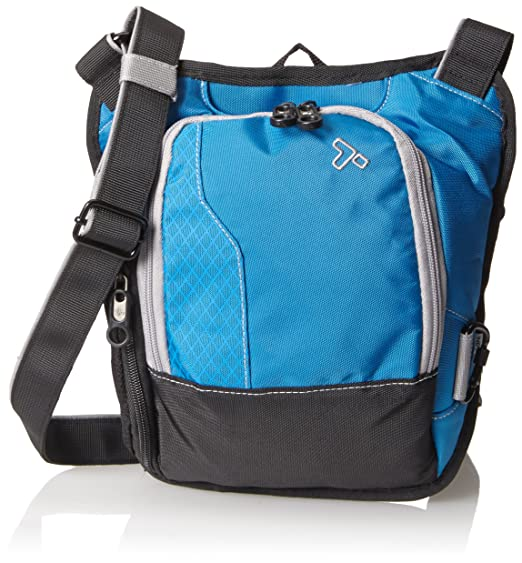 Travelon Anti-Theft React Small Messenger Black /& Blue