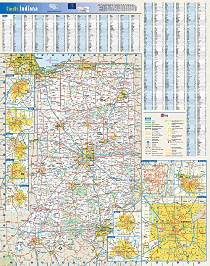 Amazon.com: Home Comforts Laminated Map - Large Roads and Highways on indiana road map with cities, indiana map with scale, printable map of indiana with cities, indiana state city map rivers, indiana counties, indiana state map reservoirs, indiana county map,