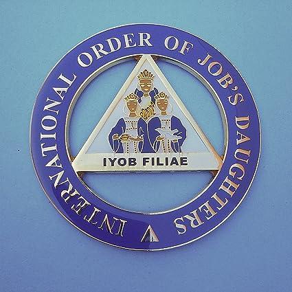 Delux Masonic International Order Of Job's Daughters Heavy Alloy Car Emblem