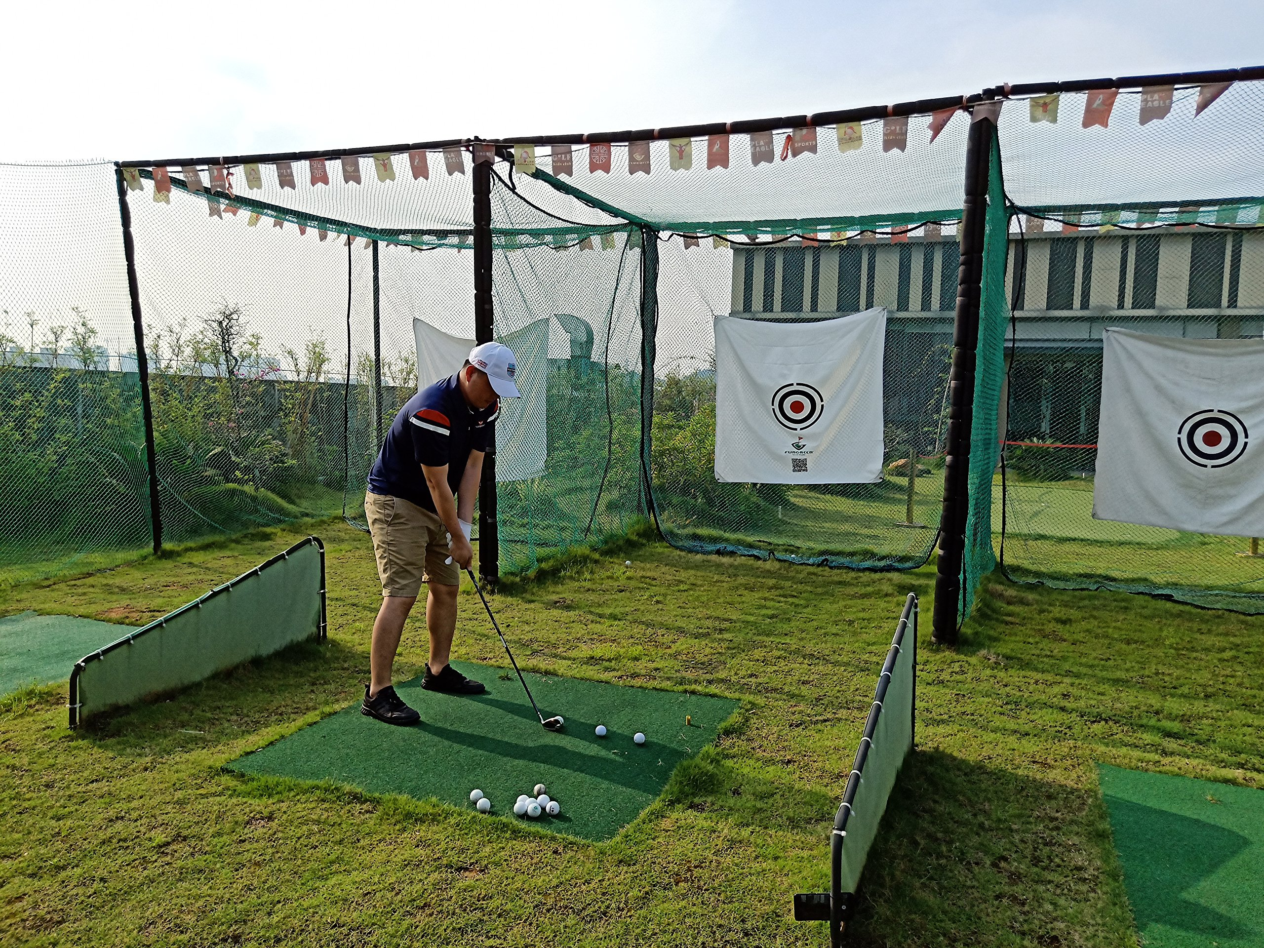 FUNGREEN 1.5Mx1.5M Golf Hitting Target Cloth for Golf Practice Indoor Training Outdoor Court Hitting Cloth Golf Accessories by FUNGREEN (Image #4)