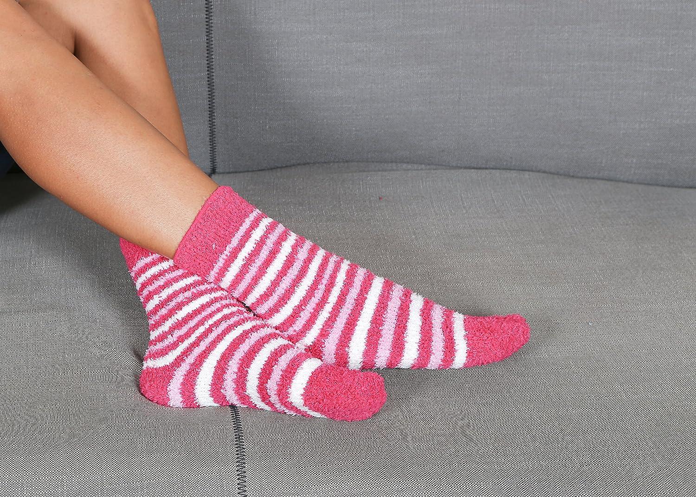 SET 3 PAIA CALZINI KANGURU WARM SOKS FUCSIA Idea regalo donna Natale calzini in morbido tessuto per tenere caldi i piedi in autunno inverno Soffici calze