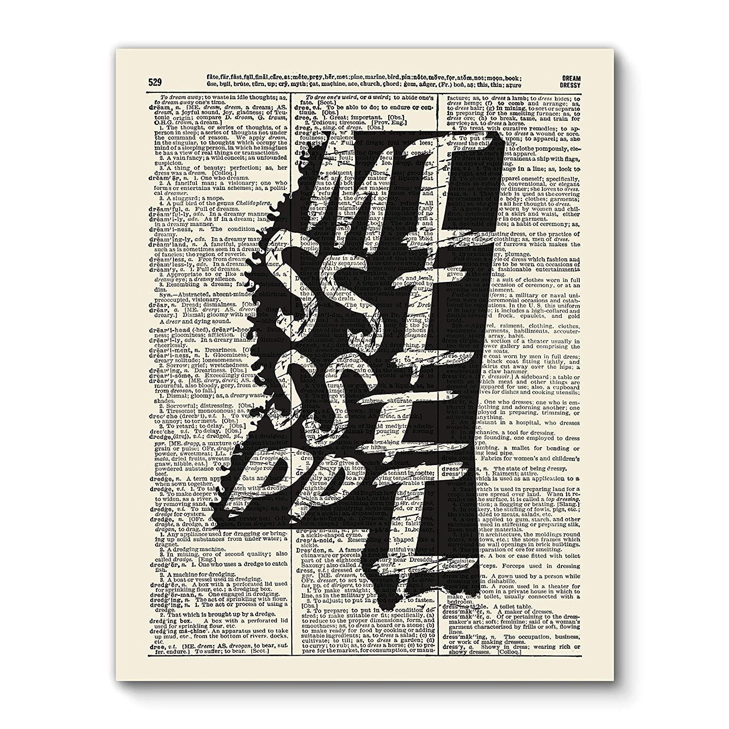 VintBo Mississippi State Brush Stroke Print, Vintage Dictionary Art Print, Modern Contemporary Wall Art for Home Decor, Boho Art Print Poster, Country Farmhouse Wall Decor 8x10 Inches, Unframed