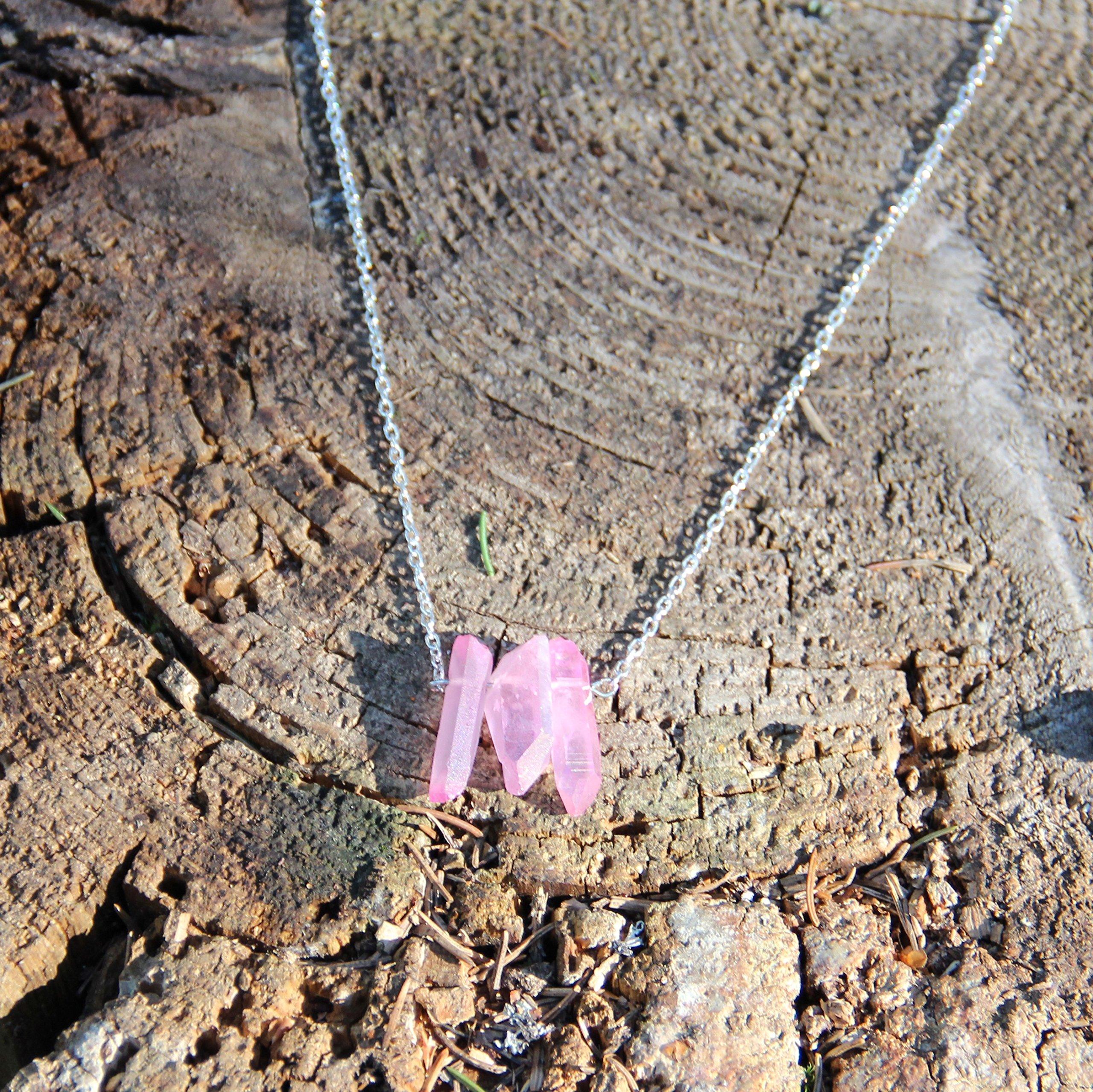 Solar Plexus Chakra Stone Karelian Heritage Evil Eye Aura Quartz Necklace on a Chain Energy Necklace CO18