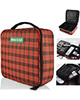 Makeup Bag - Travel Cosmetics Organizer - Train Case With Multiple Compartments - Waterproof | by show & tell - Durable, Cute Stylish & Fun