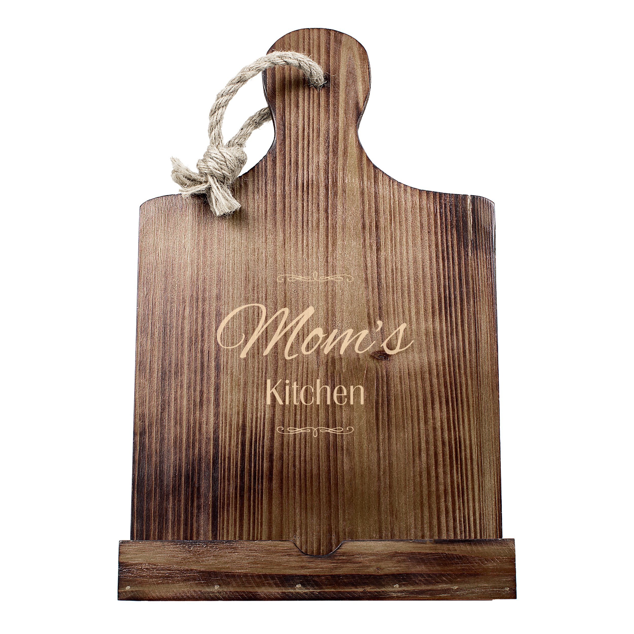Cathy's Concepts Mother's Day Wooden Tablet & Recipe Stand, Brown