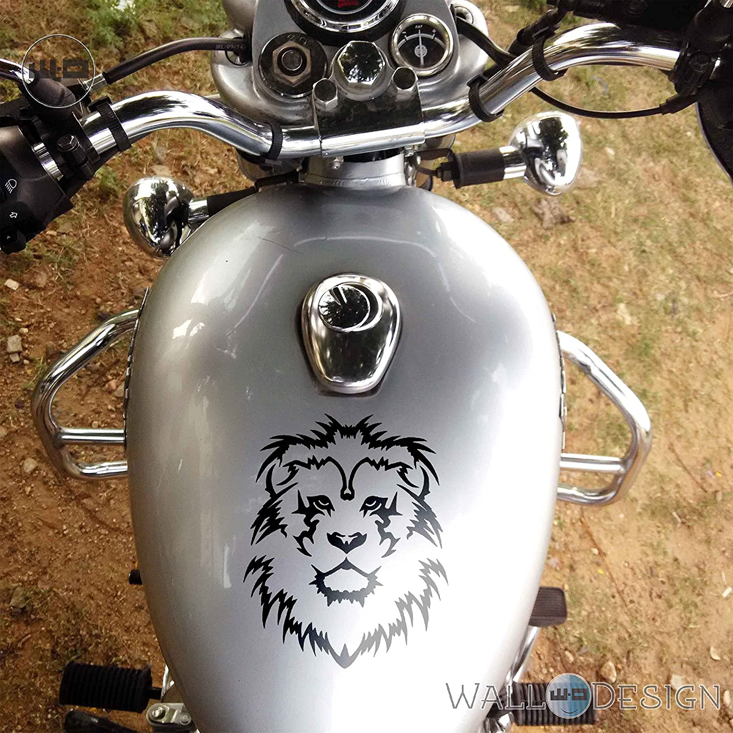 Walldesign radium stickers design for bikes lion king copper colour reflective vinyl amazon in car motorbike