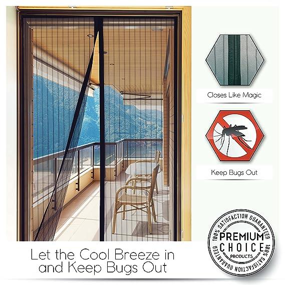 Fliegengitter Tür mit Magnetverschluss, Insektenschutz ohne Bohren ...