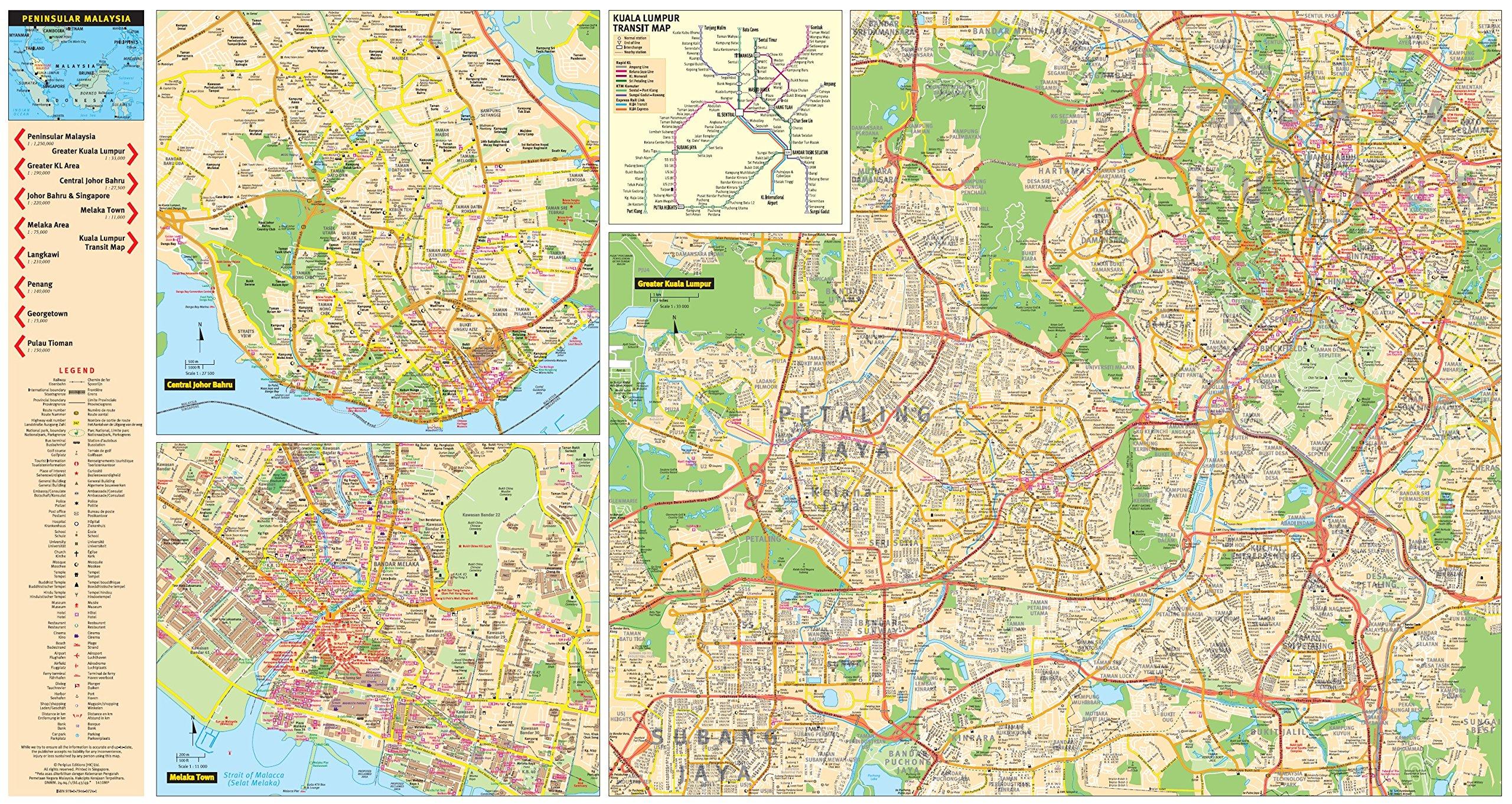 Peninsular Malaysia Travel Map Periplus Travel Maps Periplus
