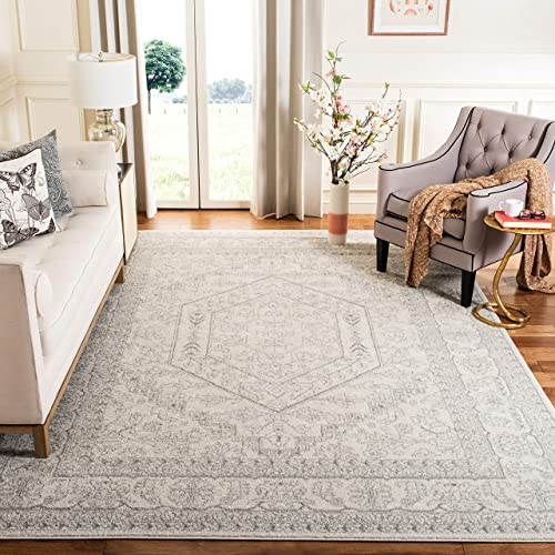 Safavieh-Adirondack-Collection-ADR108B-Ivory-and-Silver-Oriental-Vintage-Medallion-Area-Rug