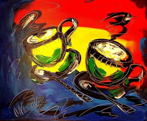 Amazon.com: COFFEE Contemporary Gallery -Wall Decor - Canvas ...