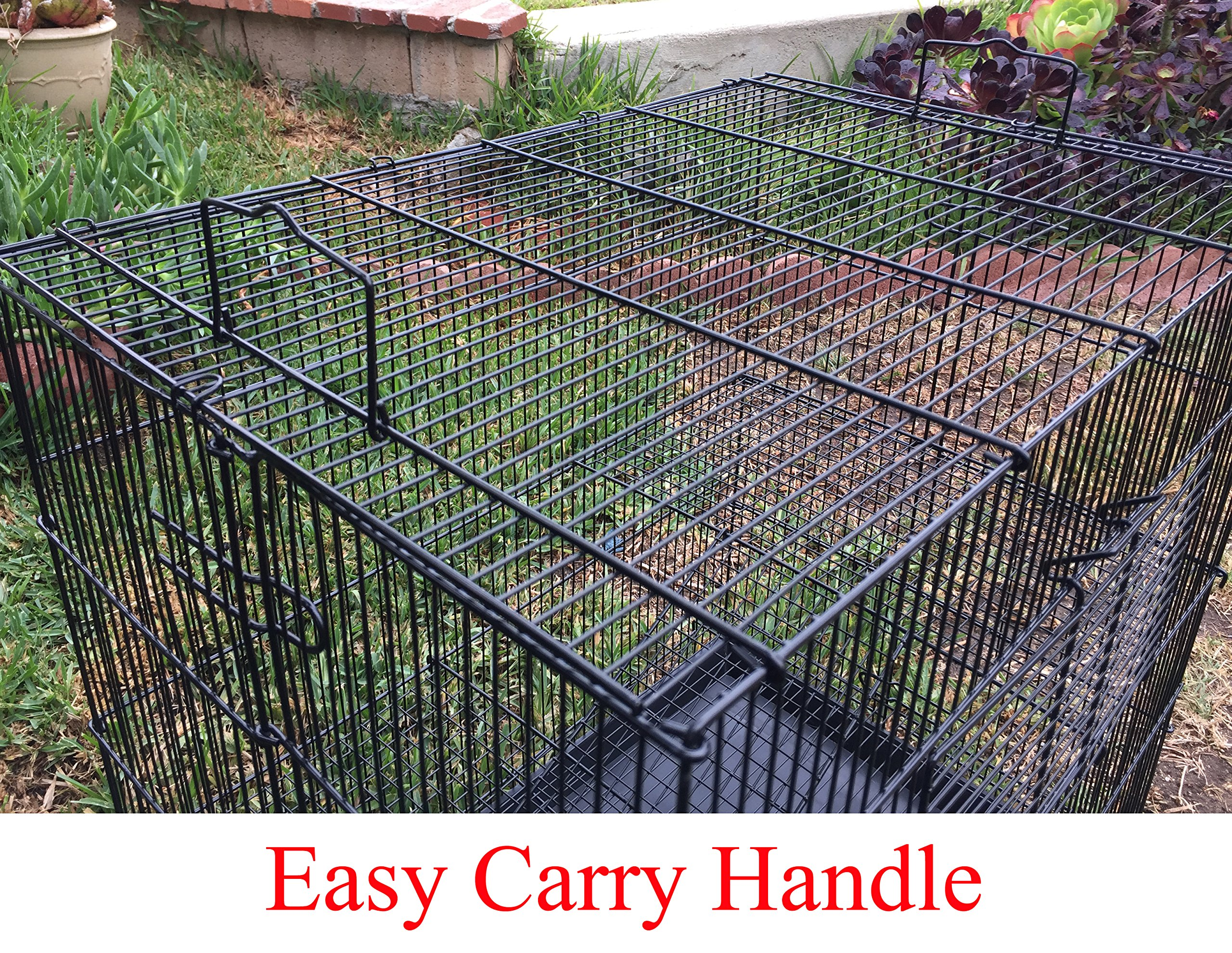 Two Size, 3 Level Ferret Chinchilla Sugar Glider Rats Animal Cage With 1/2 Inch Cross Shelves and Ladders by Mcage (Image #1)