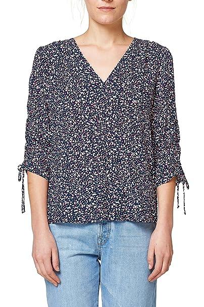 Esprit 028ee1f020, Blusa para Mujer, Multicolor (Old Pink 680), 42 (Talla del Fabricante: 40)