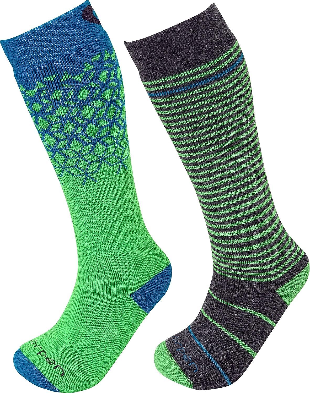 Lorpen Unisex Youth T2 Kids Merino Ski Socks - 2 Pack : Clothing