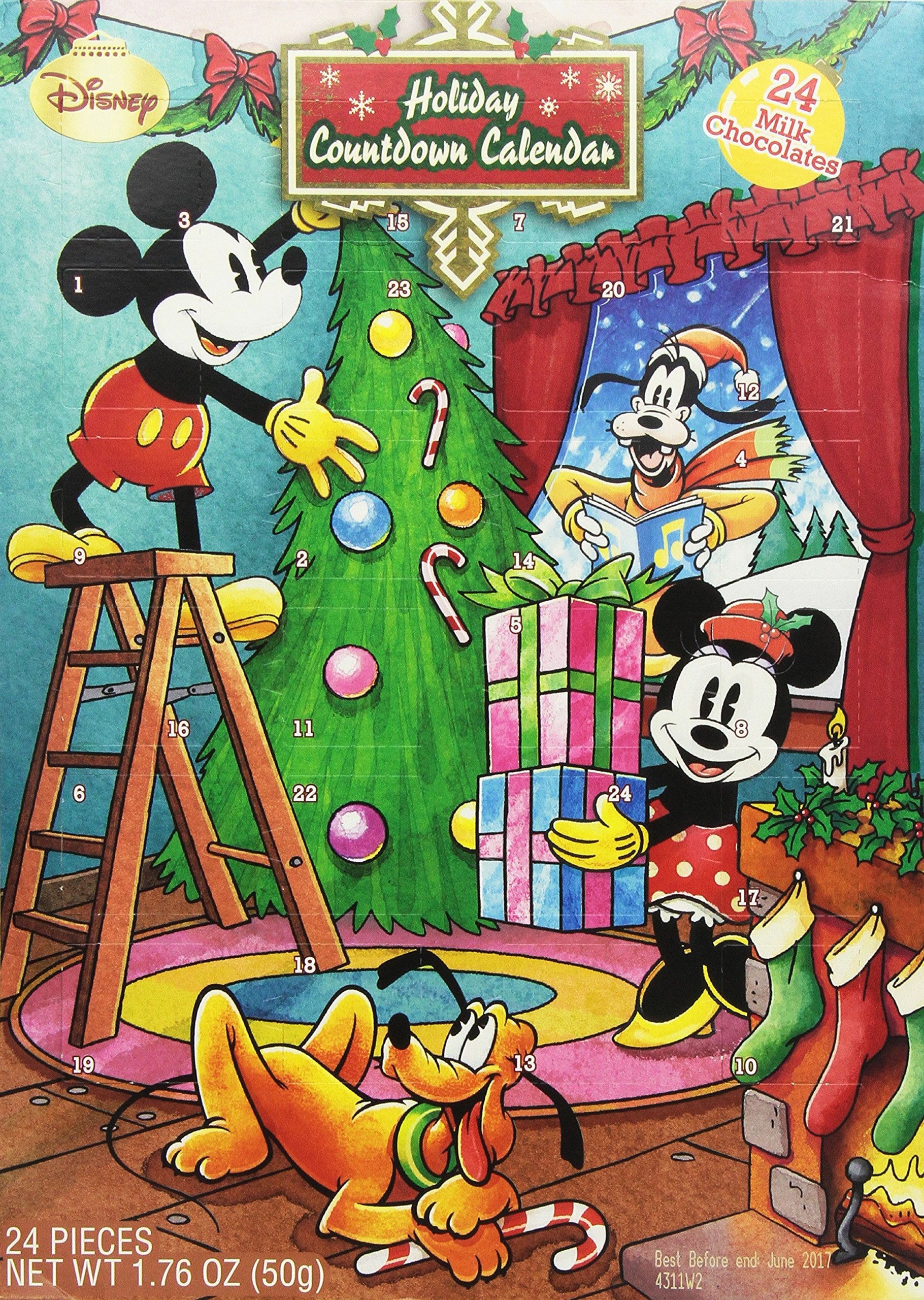 disney holiday countdown calendar with chocolates disney. Black Bedroom Furniture Sets. Home Design Ideas