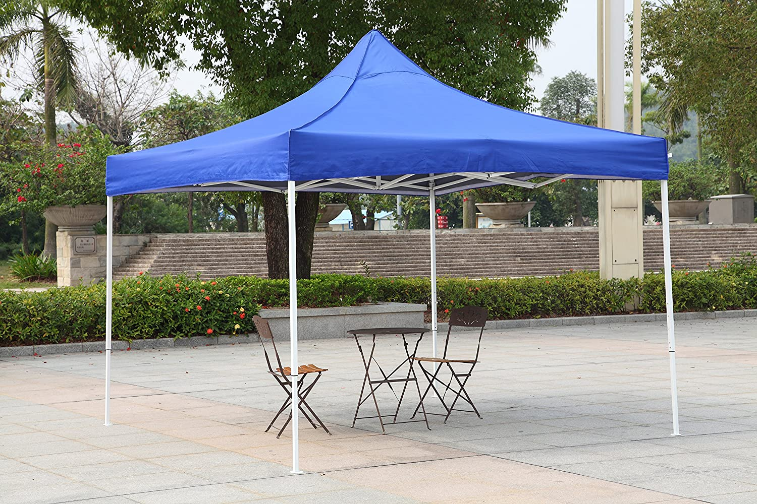 American Phoenix 10x10 10x15 10x20 [White Frame] Portable Event Canopy Tent, Canopy Tent, Party Tent Gazebo Canopy Commercial Fair Shelter Car Shelter Wedding Party Easy Pop Up (Blue, 10x10)