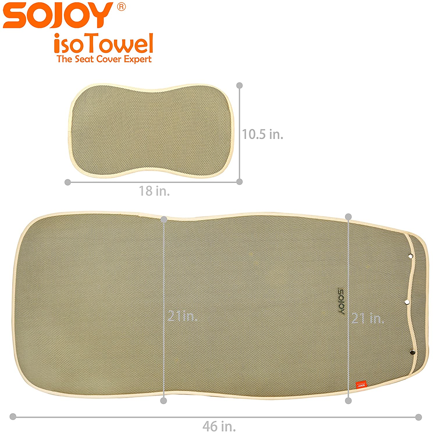 Sojoy Auto USA All-Weather with Quick-Dry No-Slip Technology Sojoy IsoTowel Car Seat Cover Carbon Black Microfiber Seat Protector Car seat Protection for All Workouts