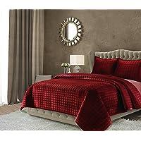 Tribeca Living FLORENCEQUIKISI Florence Velvet Oversized Solid Quilt Set