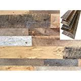 Vintage Harvest Reclaimed Barn Wood Wall Planks - Naturally Weathered, Rustic Kiln Fired Barn Wood Panels, VOC Free and…