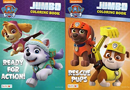 Amazon Com Paw Patrol Jumbo Coloring And Activity Book