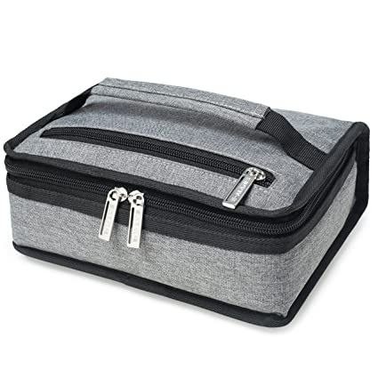 40352231340 Amazon.com: E-MANIS Insulated Lunch Bag Adult lunch box Collapsible  Multi-Layers Thermal Insulated Oxford Lunch Tote cooler bag for men, women  (grey): ...