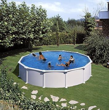 Gre KITPR558- Piscina Atlantis desmontable redonda de acero color blanco Ø550x132 cm: Amazon.es: Deportes y aire libre