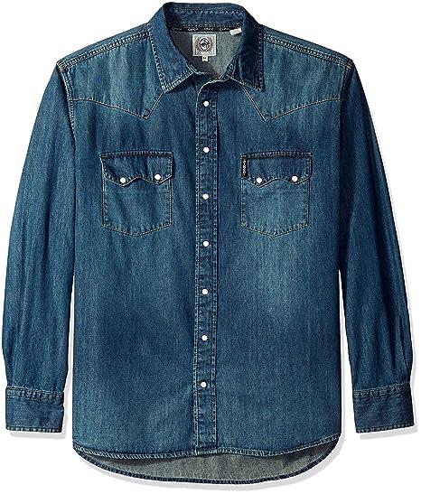 f326de374c Cinch Men s Classic Fit Long Sleeve Snap Two Sawtooth Flap Pocket Shirt