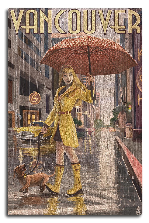 【お気に入り】 Rain Sign Girl x Pinup – バンクーバー、BC 11 Wood x 14 Matted Art Print LANT-44563-11x14M B07366B45J 10 x 15 Wood Sign 10 x 15 Wood Sign, 日本ネット通販センター:190d29e5 --- mcrisartesanato.com.br