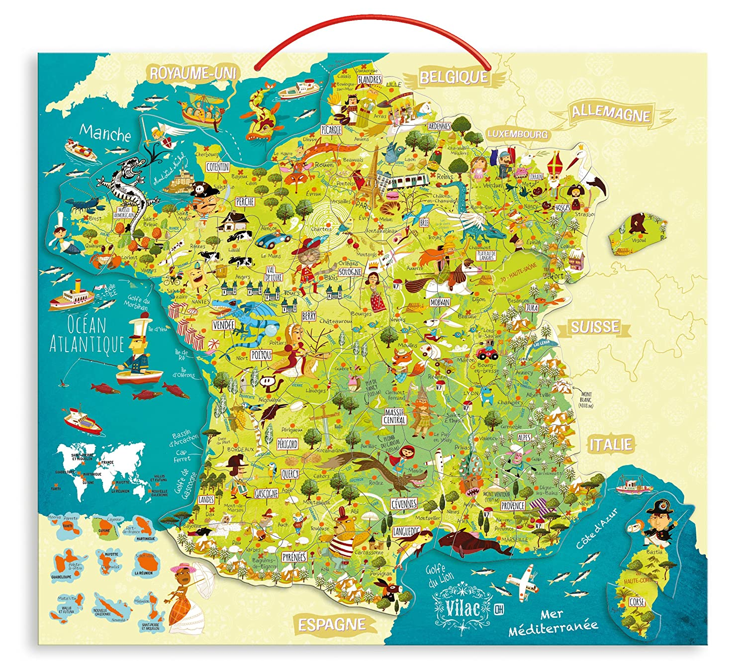 carte de france educative