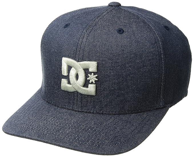 DC Shoes Men's Hatstar TX Flexfit Hat Denim Blue LXL