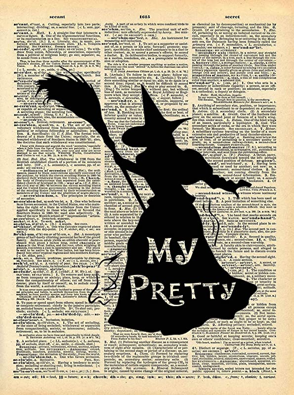 You/'re A Wizard Harry Potter Vintage Dictionary Print Picture Wall Art Quote