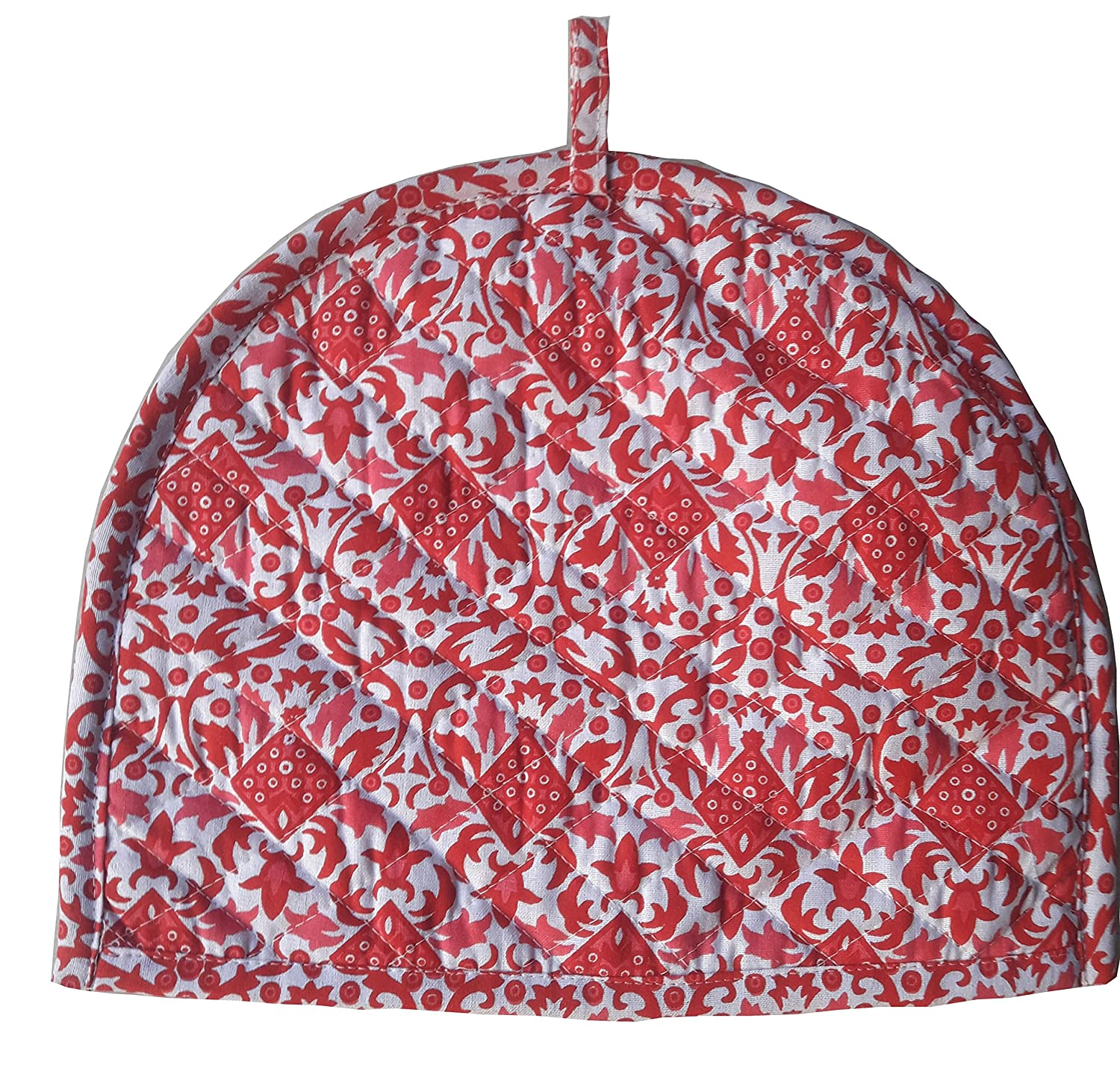 Red Tea Cosy Cotton kitchen accessories Red Color royal Tea Cozy Cover Red kettle Tea Pot cover Marudhara Fashion TEA00013