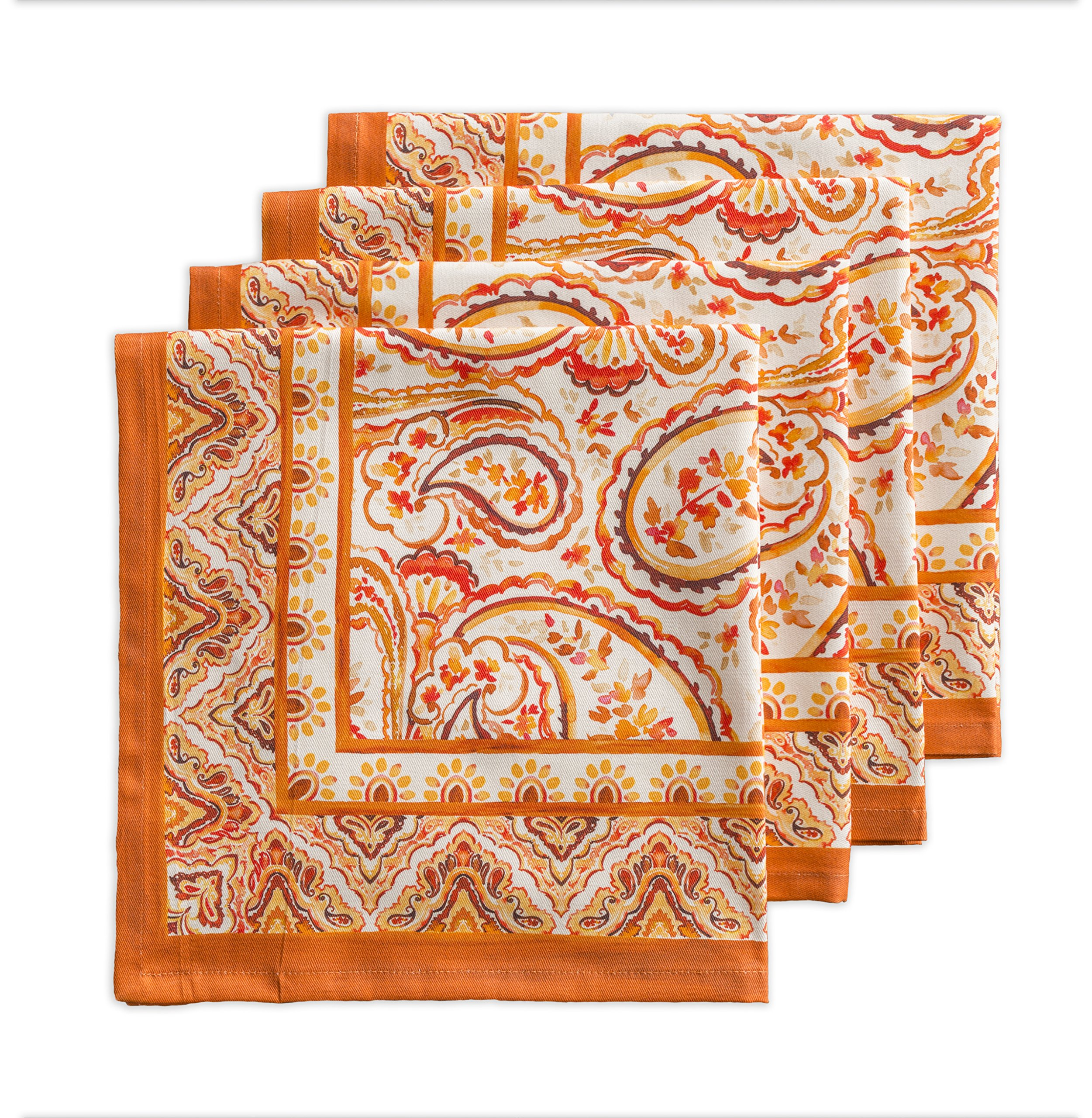 Maison d' Hermine Palatial Paisley 100% Cotton Set of 4 Napkins 20 - Inch by 20 - Inch.