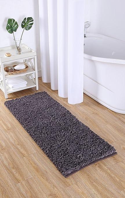 Shag Bathroom Rugs | Amazon Com Vcny Home Paper Shag Bathroom Rug 24 X 60 Gray Home