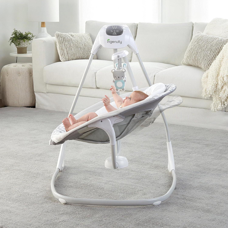 Ingenuity SimpleComfort Cradling Swing tourne à 180 degrés, se déplace dans trois directions et offre 2 mouvements: d'un côté à l'autre et d'un côté et de l'autre