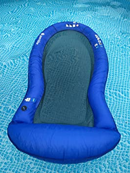 Sportsline - Colchoneta para agua, con malla, azul, 165 x 83 ...