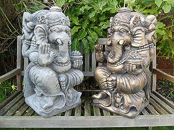 Superbe Ornate Stone Ganesh Statue Garden Ornament