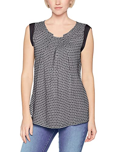 United Colours of Benetton Damen Bluse Tile Print Sleeveless Blouse