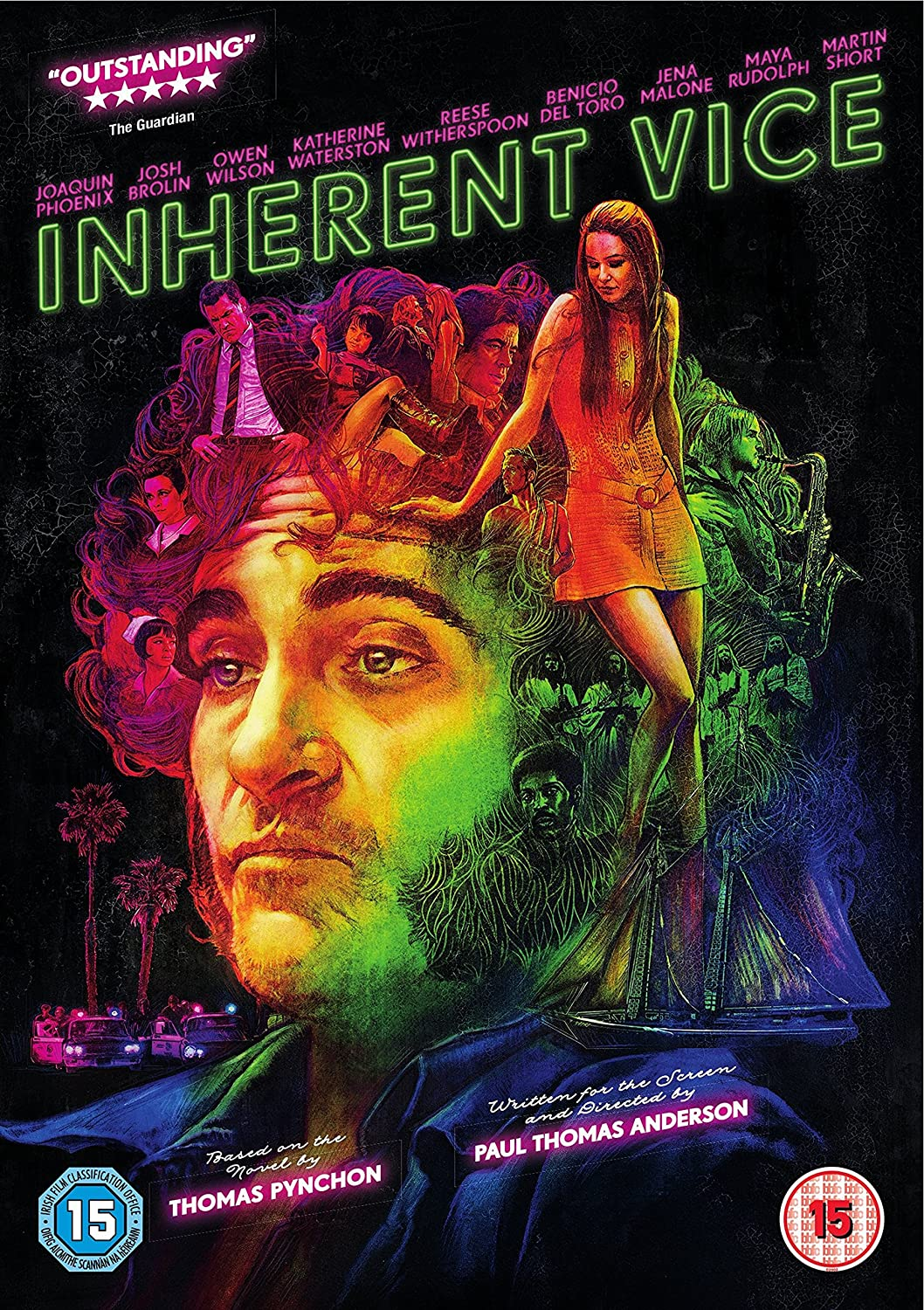 iNHERENT ViCE Joaquin Phoenix Detective Reese Witherspoon LARGE French POSTER