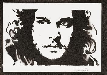 moreno-mata Jon Snow Il Trono Di Espade (Game Of Thrones) Handmade Sreet Art - Artwork - Poster