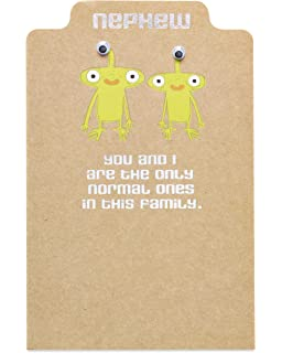 american greetings funny normal birthday card for nephew with foil
