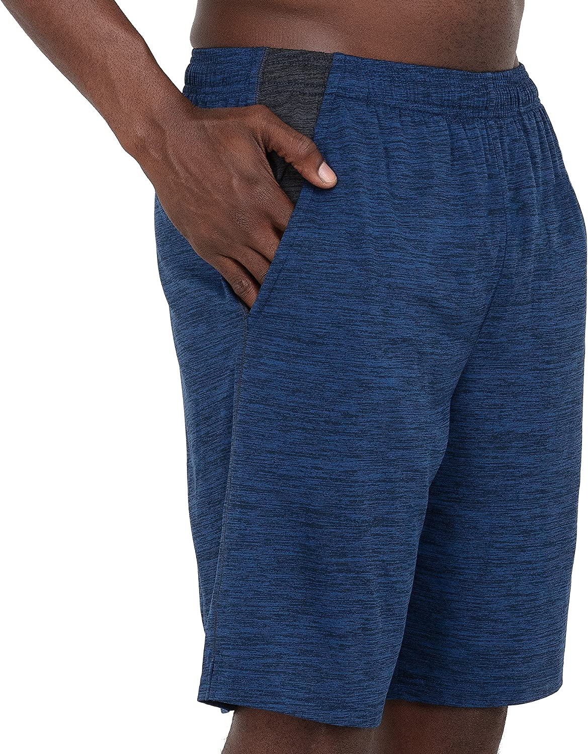 Layer 8 Mens Short Quickdry Athletic 10 Inch Inseam Extra Mile Short with Two Side Pockets