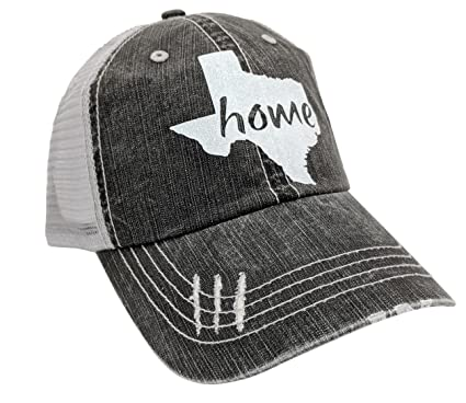 85430136d6d3a Loaded Lids Women s Texas Home Bling Distressed Baseball Cap (Grey White)